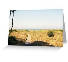 Heading out to sea. Greeting Card