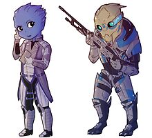 Liara & Garrus - Mass Effect by endrae