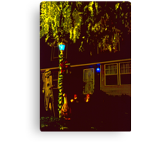 Halloween Yard 2 Canvas Print