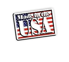 Made in the USA, with Flag, manufactured in America, American, Photographic Print