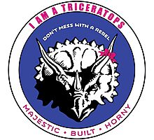 I AM A TRICERATOPS - Pink/Blue MBH Photographic Print