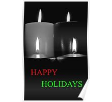 Lighted Christmas Candle Greeting - 6K Poster