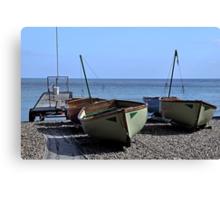 Twin Boats, Tweedledum and Tweedledee... Canvas Print