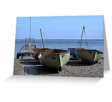 Twin Boats, Tweedledum and Tweedledee... Greeting Card