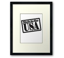 Made in the USA, American, America, in Black Framed Print