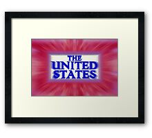 "Colorful and Bold signage of ""The United States"" Framed Print"