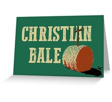 Christian Bale Greeting Card