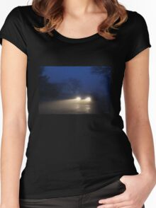 Fog Caught in the Headlights Women's Fitted Scoop T-Shirt