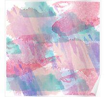 Girly Watercolor Splash Poster