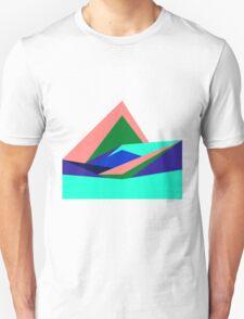 Pink Hills, Generative Art, Data Visualisation T-Shirt