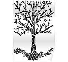 Tree Black Poster