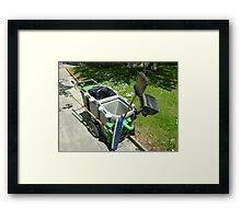 street-sweeping equipment Framed Print