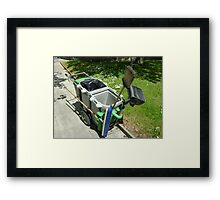 street-sweeping equipment Framed Print