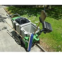 street-sweeping equipment Photographic Print