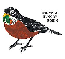 The Very Hungry Robin Photographic Print