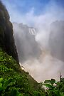 Victoria Falls, view of the Cauldron. Zimbabwe, Africa. by PhotosEcosse