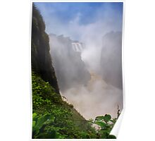 Victoria Falls, view of the Cauldron. Zimbabwe, Africa. Poster