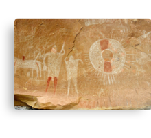 Ute Indian Pictographs Metal Print