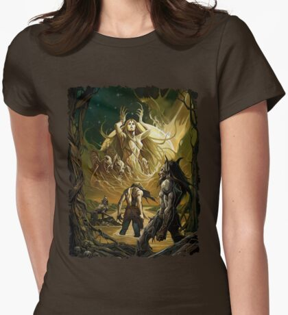 Forsaken Cover Art: Signs of the Moon Womens Fitted T-Shirt