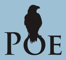 The raven sitting on E. A. Poe T-Shirt