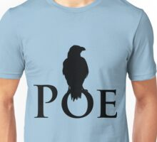 The raven sitting on E. A. Poe Unisex T-Shirt