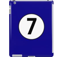 7, Seventh, Number Seven, Number 7, Racing, Seven, Competition, on Navy Blue iPad Case/Skin