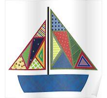 Kids Sailboat Poster
