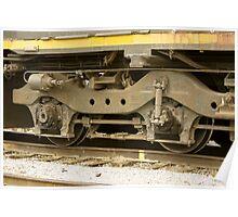 Trains - Locomotive Wheel Detail Poster