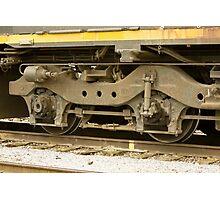 Trains - Locomotive Wheel Detail Photographic Print