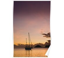 Antigua Sunset Poster