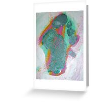 Green Footprint by Holly Cannell Greeting Card