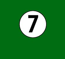 7, Seventh, Number Seven, Number 7, Racing, Seven, Competition, BRITISH RACING GREEN by TOM HILL - Designer
