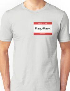 Hello, I use...pronouns - they/them Unisex T-Shirt