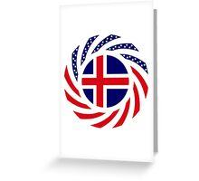 Icelander American Multinational Patriot Flag Series Greeting Card