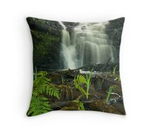 White Coppice Mill waterfall Throw Pillow