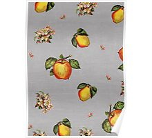 fruit and blossoms Poster
