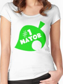 #1 Mayor - Animal Crossing Women's Fitted Scoop T-Shirt
