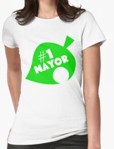 #1 Mayor - Animal Crossing Womens Fitted T-Shirt