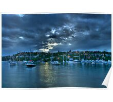 Light On The Water - Middle Harbour, Sydney - The HDR Experience Poster