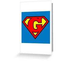 Super G Greeting Card