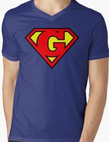 Super G Mens V-Neck T-Shirt