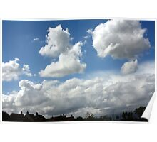Uk Shaped Cloud Poster
