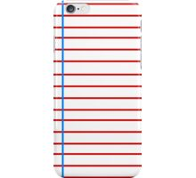 Lined Paper iPhone Case/Skin