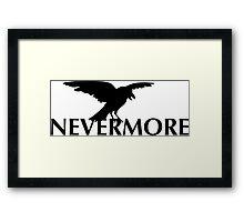 The Raven  - Nevermore Framed Print