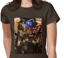 Forsaken Art: Robot Fight Womens Fitted T-Shirt