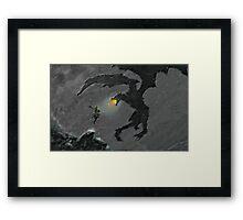 Warrior slaying Dragon Framed Print