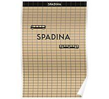 SPADINA Subway Station Poster