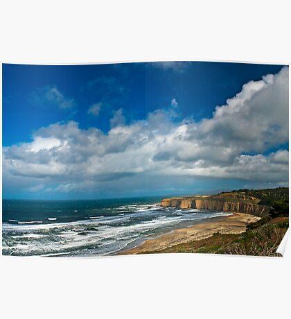 Coastal Headlands San Gregorio Poster