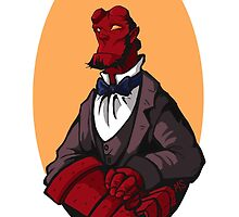 Hellboy Bust by magsgard