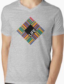 Life colors Mens V-Neck T-Shirt